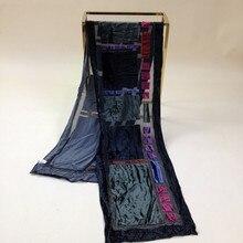 Бархатный шелковый шарф женский размер: 26*140 см Женский Мужской#504