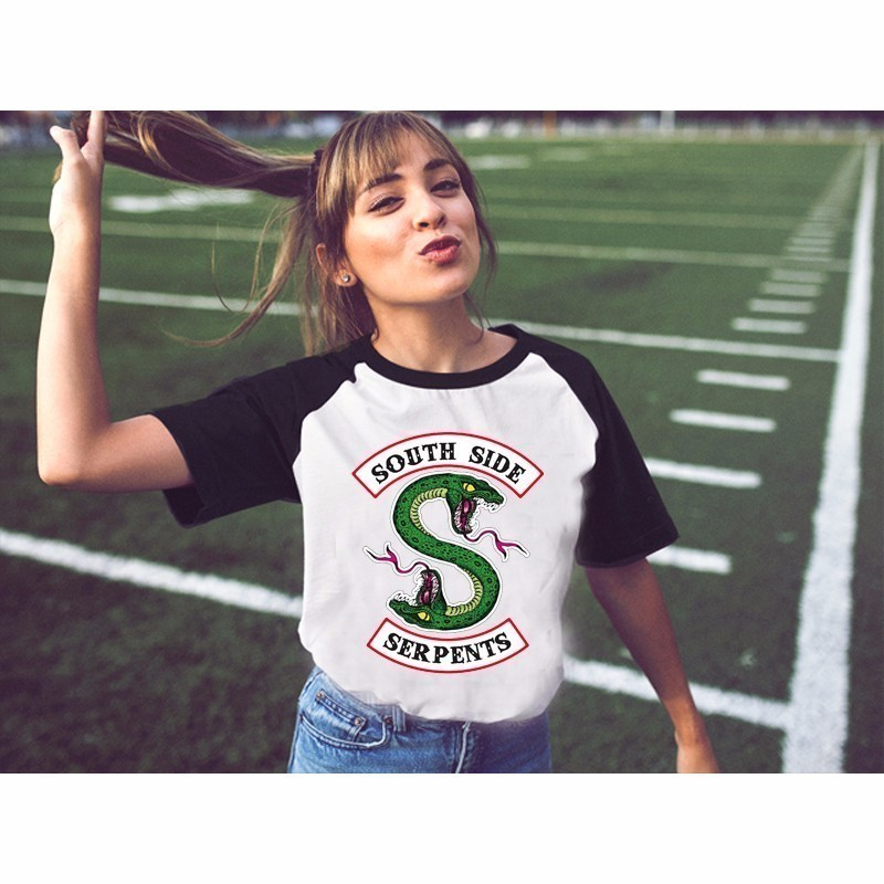 2019 Riverdale Jughead Southside Serpents Sexy T Shirt Shirts Women Tshirt Summer Top Short T-shirt Girl Long Sleeves Female
