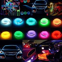 EL Wire Light strip 1M/2M/3M/5M DC 3V 12V Neon Light Dance Party Decor Light Neon LED lamp Waterproof String Car Tube Decoration