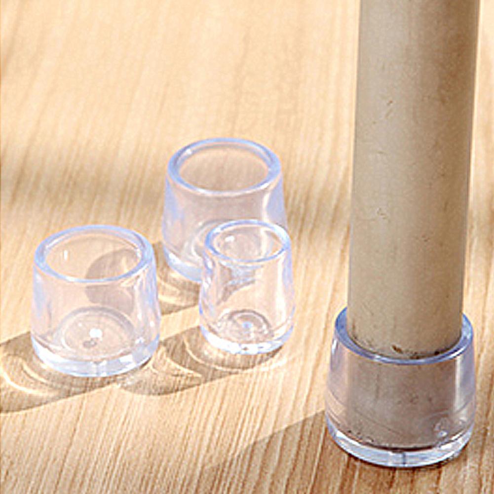 Slijtvaste Stoel Voetovertrek Antislip Zetel Krukje Transparant Zacht Plastic Bescherming Pad 4 Stuks Uitstekende Kwaliteit