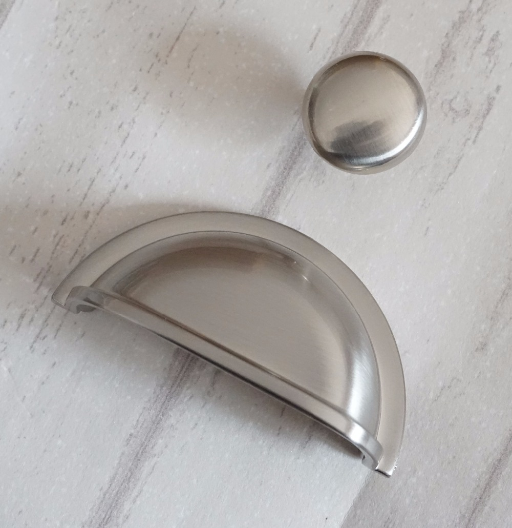 2 pcs Retro Bowl Drawer Pull Knob Dresser pulls Nickel plating Handles Shell Cup Handles Cabinet Knobs Kitchen Hardware 76mm in Cabinet Pulls from Home Improvement