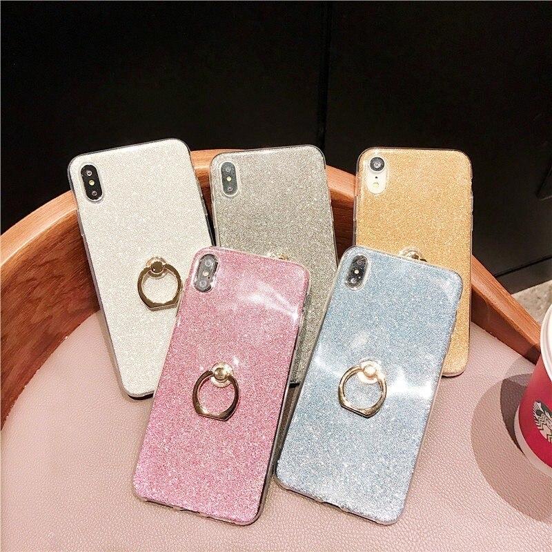 Чехол для телефона чехол на мобильный телефон для Huawei Honor 6X 7X 8X 7A 7C 8A 8C 8 9 10 lite V20 вид 20 Pro Чехол Мягкий силиконовый чехол палец кольцо задняя кры...