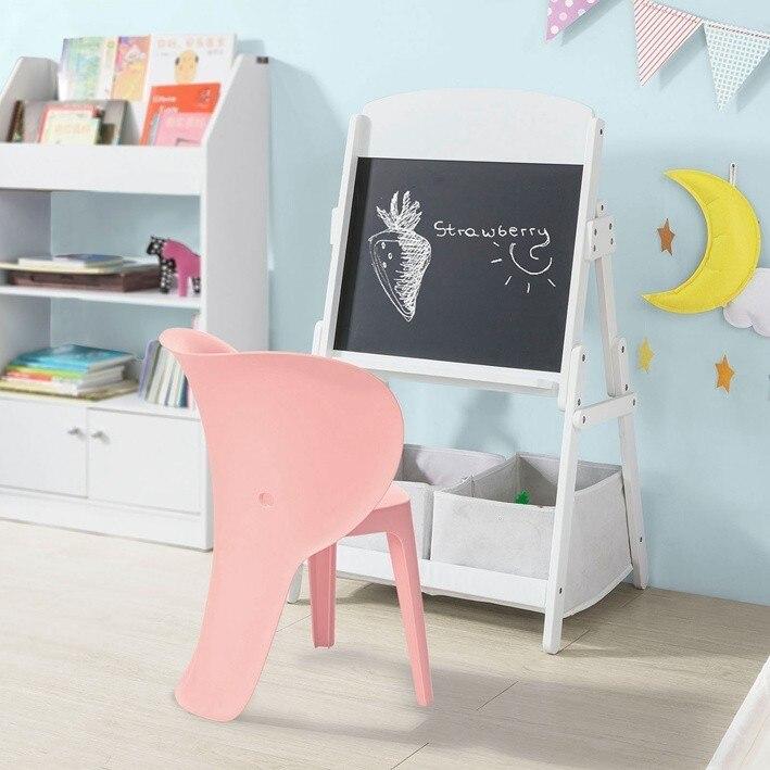 SoBuy KMB12, Set Of 2 Kids Chair Children Stools Plastic Elephant Design Chair