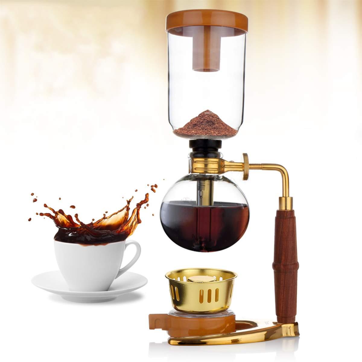 Haut de gamme à la recherche 345x120mm 150 ml verre Siphon cafetière cafetière goutte à goutte cafetière cuisine outil de meulage de haute qualité