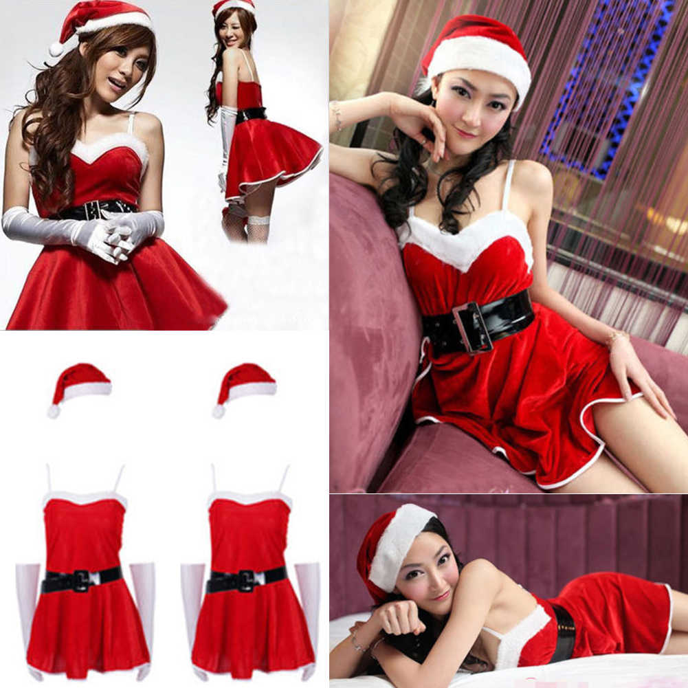 Detail Feedback Questions about THEFOUND Sexy Women Christmas Santa Costume  Dress With Hood Outfit Xmas Party Fancy Dress on Aliexpress.com  ceffdcc89f32