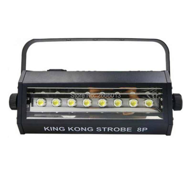 DMX512 Auto Sound Control 200W LED Strobe Light White Color LED Stroboscopic Light Club Bar Flash