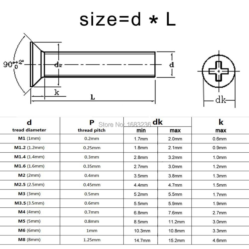 M2.5 x 6mm Philips Head Screw 50 pcs