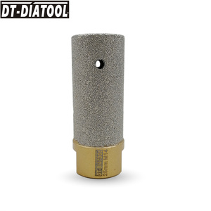 Image 5 - DT DIATOOL 1pc Dia 10/20/25mm Vacuum Brazed Diamond Finger Bits 5/8 11 or M14 Thread Milling Bits for Porcelain Marble Granite