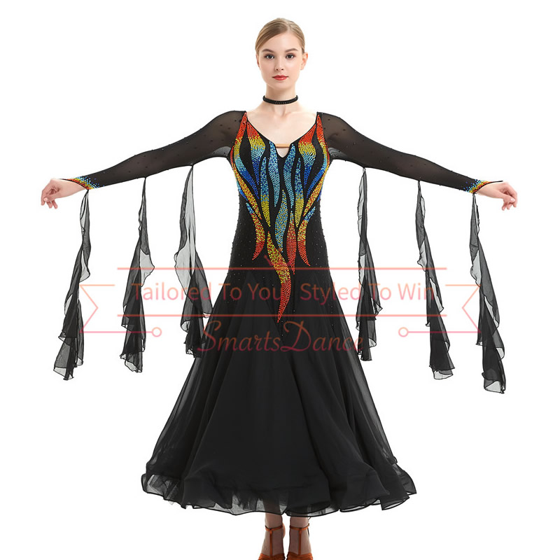 Ballroom Dance Costume Skirt Modern Waltz Tango Competition Dancewear 6 Colors