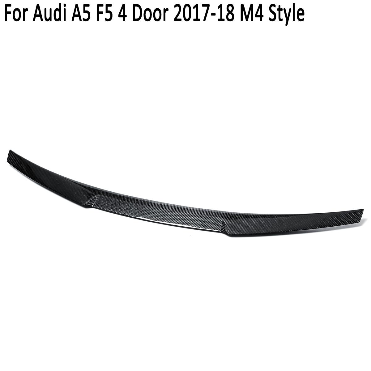 Pour Audi A5 F5 Sportback 4 portes 2017 2018 M4 Style complet en Fiber de carbone coffre arrière becquet aile coffre coffre couvercle