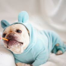 Купить с кэшбэком French Bulldog Cute Cat Ear Jumpsuit Dog Clothes for Small Dogs Pets Clothing Chihuahua Puppy Pajamas Yorkshire Coat Pug Costume