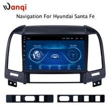 Android 8,1 9 дюймов, автомобильный, мультимедийный gps 1 ГБ 16 ГБ Радио стерео для hyundai Santa Fe 2005-2012 Автомобильный видео навигация