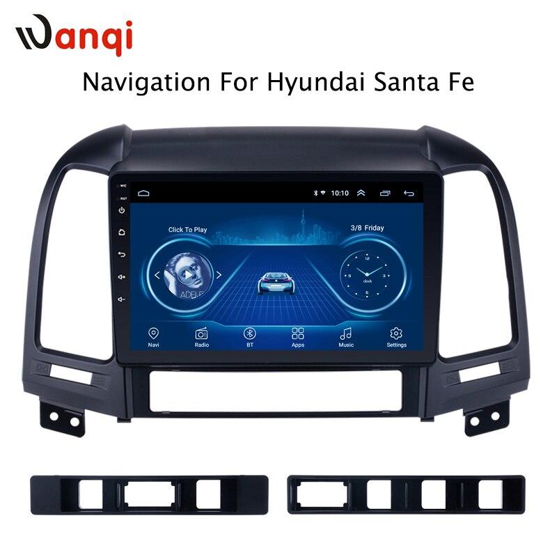 Android 8.1 vendas diretas da fábrica 9 polegada carro multimídia gps rádio estéreo para hyundai santa fe 2005-2012 navegação de vídeo do carro