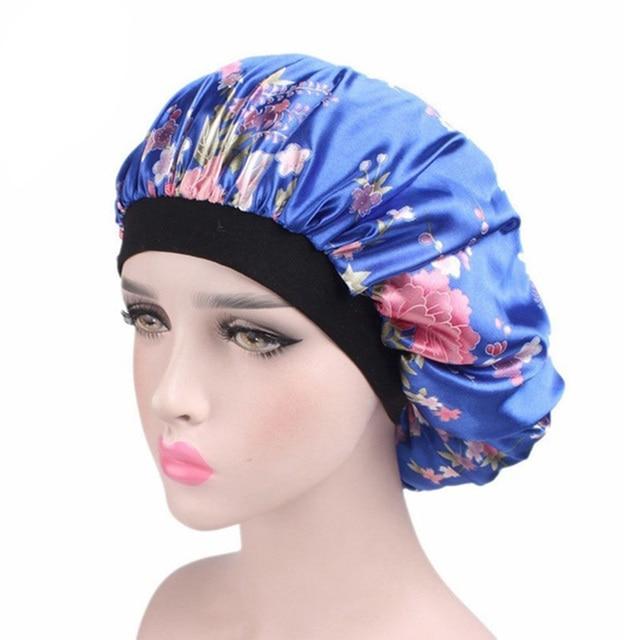 Cómodos de las mujeres de moda banda de sombrero gorro de pelo noche de sueño sombrero turbante sofisticado real flor sombrero del bebé