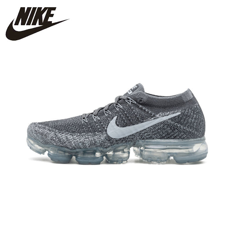 newest 93ddf 66aac US $130.0 48% OFF|NIKE Vapormax Flyknit Original Men's Running Shoes  Stability Breathable Sneakers Comfortable Sports Shoes #849558 002-in  Running ...