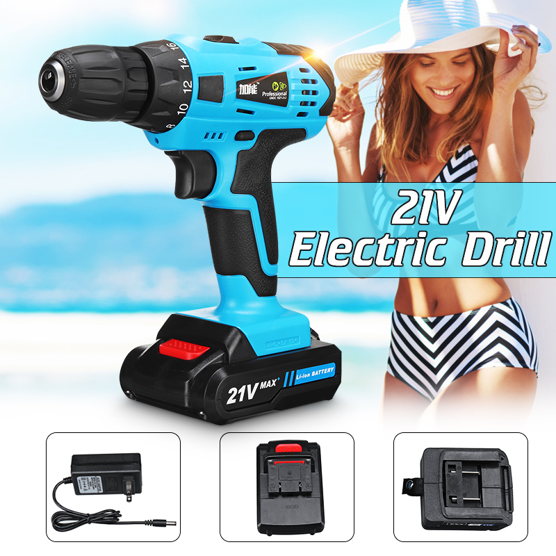21V Cordless Electric Drill Screwdriver Max 2 Speed Keyless Chuck 18+1 Clutch Positions with Rechargeable Lithium Lon Batteries 21V Cordless Electric Drill Screwdriver Max 2 Speed Keyless Chuck 18+1 Clutch Positions with Rechargeable Lithium Lon Batteries