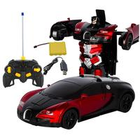 Creative Bugatti Rambo Deformation Car Remote Control Deformation Gesture Induction Deformation Toy Car Robot Electric Car Model