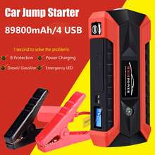 89800 mAh 4USB 12 V 600A LED Voiture Jump Starter Portable D'urgence Chargeur Batterie Power Bank Voiture Booster Dispositif de Démarrage étanche(China)