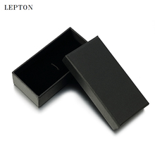 Lepton Black Paper Tie Clips Boxes 10 PCS/Lots High Quality Black matte paper Jewelry Boxes Cuff links Carrying Case wholesale
