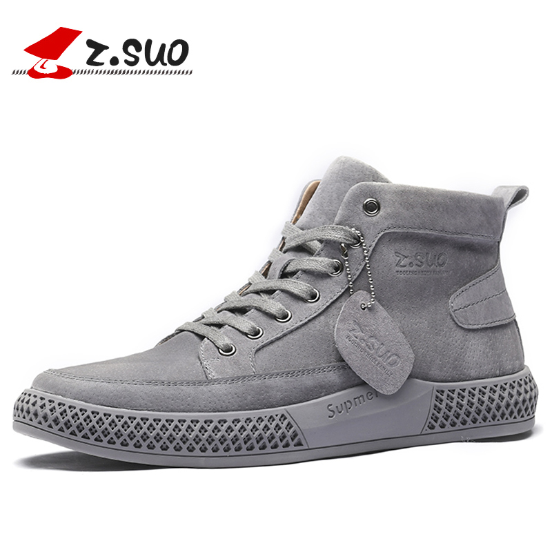 Z.SUO 2019 New Spring Genuine Leather Men's Boots Classic Popular Outdoor Boots Shoes Men High-quality Breathable Tooling Boots(China)