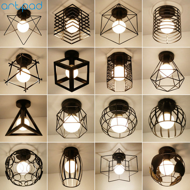 Artpad Northern Europe Iron Diamond Led Ceiling Light Fixtures Hallway Lights Dressing Room Balcony Lamp 5w E27 Bulb Included