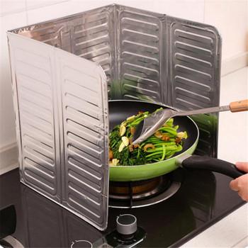 Naczynia kuchenne i urządzenia kuchenka gazowa płyta przegrody oleju izolacja z folii aluminiowej smażenia ciepła Anti-hot izolacja tanie i dobre opinie OLOEY Metal aluminum foil