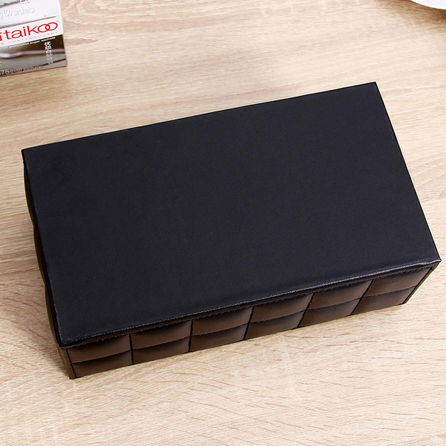 ORZ PU Leather Tissue Box Napkin Holder Home Office Desk Organizer Storage Holder Box for Pen Remote Controller Tissue Box Cover