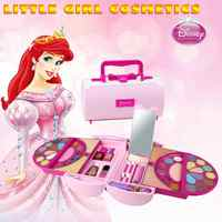 New Children Pretend Play Toys Disney Princesses Make Up Kit Makeup Set Safe and No Toxic For Girls Dressing Cosmetic Gift Box