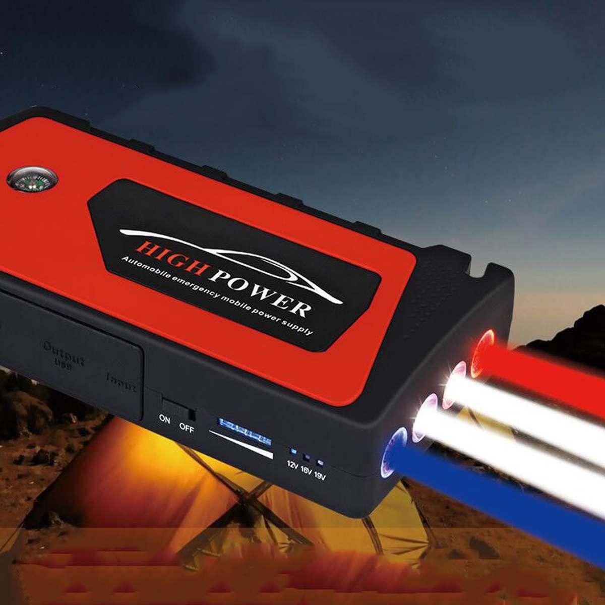 Démarreur de saut de voiture Portable 4 Ports USB démarreur de saut de voiture chargeur portatif batterie chargeur dispositif de démarrage pour les Diesels à essence de téléphone - 2