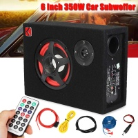 6 Inch 350W Under Seat Car Active Subwoofer Speaker Stereo Bass Audio Powered Car Subwoofers Amplifier Active Car Subwoofer