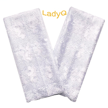 Stone White African Fabric Lace Swiss Mesh Materials French Net Fabrics Aso Ebi Nigerian 2019 High Quality