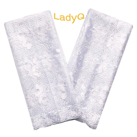 Stone White African Fabric Lace Swiss Mesh Materials French Lace Net Fabrics Aso Ebi Nigerian Lace Fabric 2019 High Quality Lace