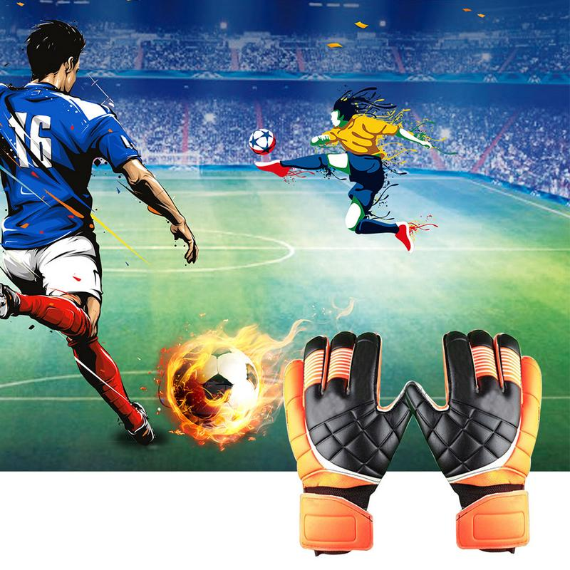 Goalkeeper Gloves With Football Color Full Latex Non-Slip Bone Protection Embossed Doorkeeper