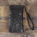Новый мужской кошелек из натуральной кожи  брендовый винтажный органайзер  кошельки  мужской клатч  кошелек на молнии  Длинный кошелек для с...
