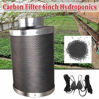 300mm Carbon Filter 6Inch Hydroponics WIth Pulley Rope Ratchet Hanger for Indoor Grow Tent Hydroponic