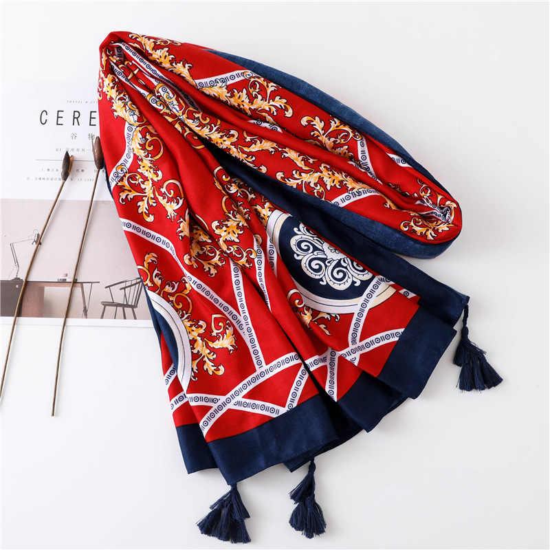 Осень зима новый стиль Lijiang Защита от солнца пляжный шарф женский трофей цепи хлопок Туризм шарф шаль