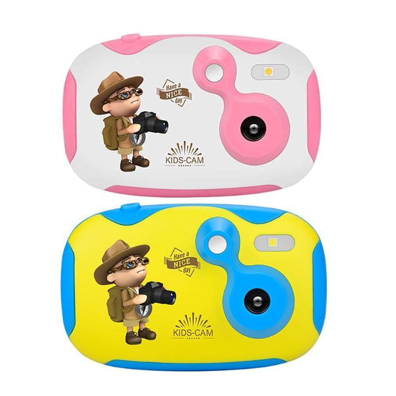 Amkov Children Cartoon Camera 1.44 inch HD Color Screen 0.3MP Camcorder 95 * 60 * 34mm/3.74*2.36*1.33'' 1.44 inch HD display