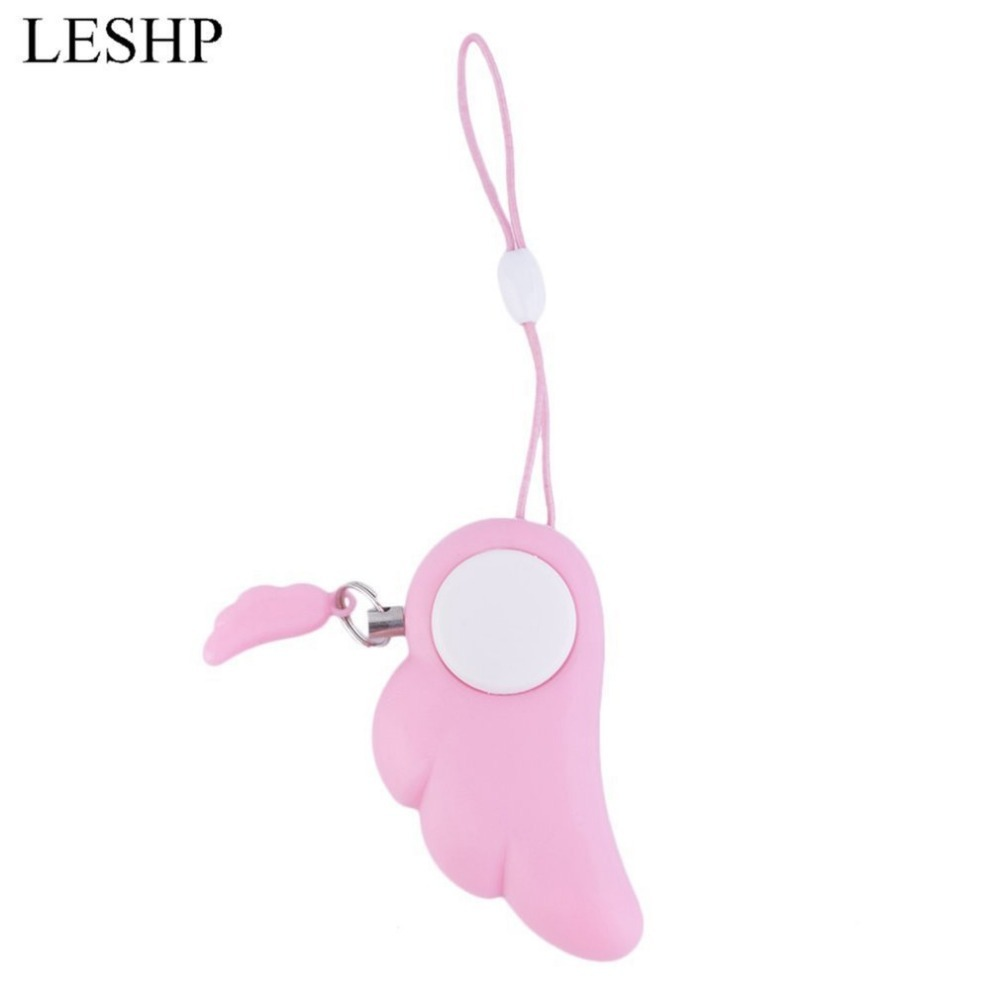 Angel Wings Anti-Wolf Alarm Self Defense Panic Safety Security Supplies Alarm Key Ring 90dB Defensa Personal For Women Autodefen