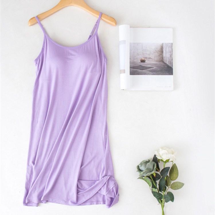 2019 Hot Sale Women Casual Spaghetti Strap Mini   Nightgowns   Ladies Summer Solid Sleeveless Slim Thin   Sleepshirts