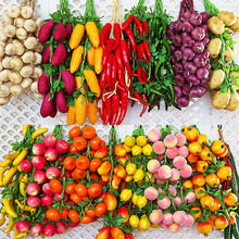 Simulation Vegetables String Fruit Skewers Fruits And Vegetables Hang String Farmhouse Decoration Hotel Decoration Photography P все цены