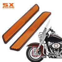 Motorrad 136*21MM Gabel Reflektor Unteren Beine Slider Sicherheit Warnung Für Harley Dyna Softail Sportster 883 1200 fatboy