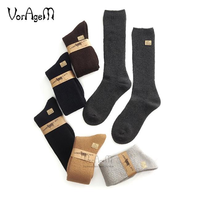 Mens Big size Super thick 80% lambs wool socks high quality classic business brand socks mens casual socks winter 3pairs=1lot