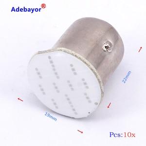 Image 4 - 100X1157 BAY15D COB 12 SMD S25 12 Led stop lamp P21W Auto Car Signal Reverse parking Led Light Brake light white car accessories