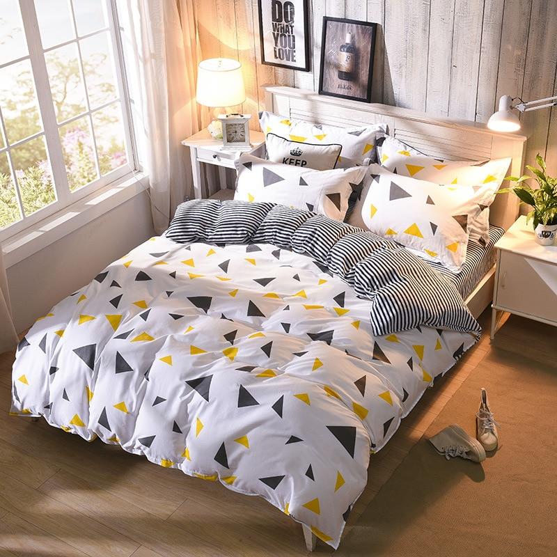 Modern Geometric Twin Full Queen Size Duvet Cover Single Double Bed Duvet Cover For Girls Boys 40