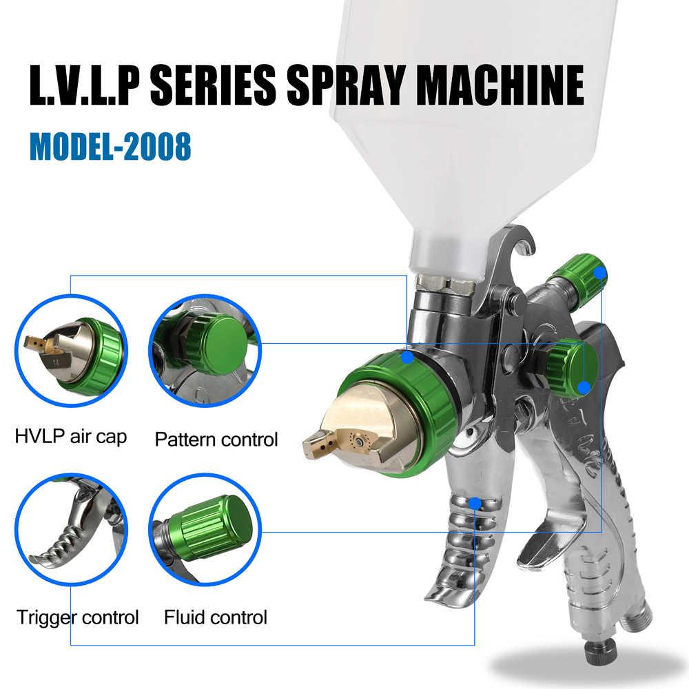 HVLP Pistola de Pintura Kit Compressor Airbrush Máquina Jateamento Vigor Feed 1.4 milímetros 1.7 milímetros 2.0 milímetros Pulverizador Pintura Ar jogo de escova