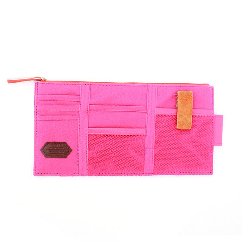 Multi Functional Car Used Sunshade Storage Bagb Portable Clip Card Bag Mobile Phone Bag Auto Interior Accessories Supplies in Stowing Tidying from Automobiles Motorcycles