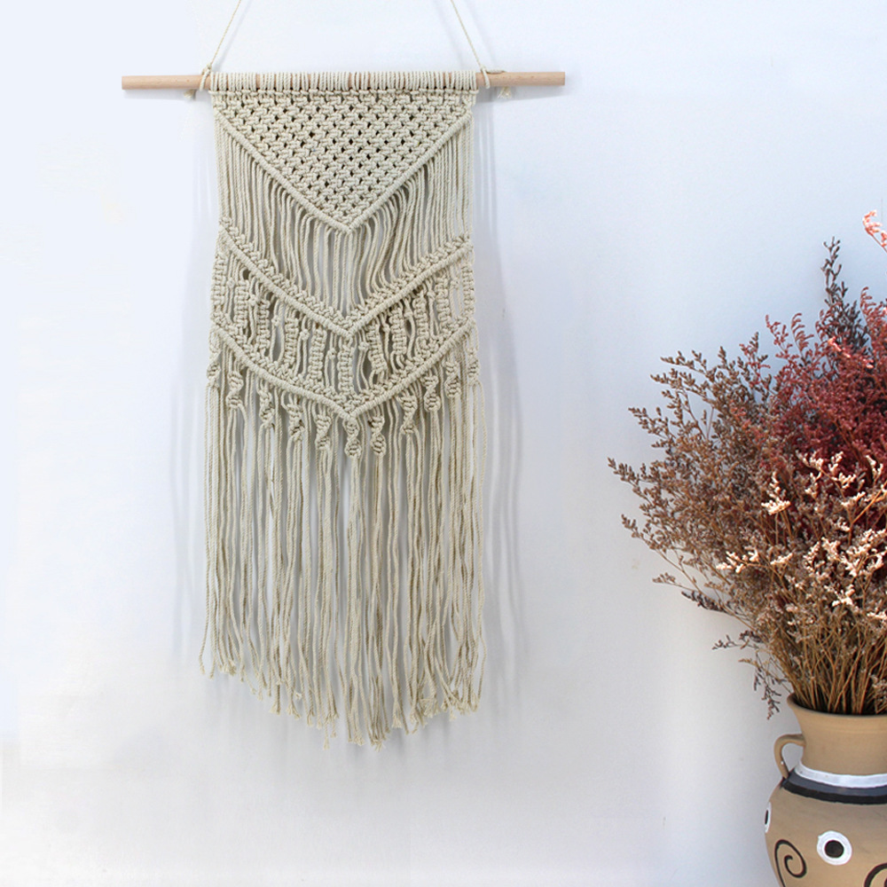 New Product Pure Manual Weave Tapestry A Living Room Tapestry Decoration home decor nordic style craft wall hanging 2 style