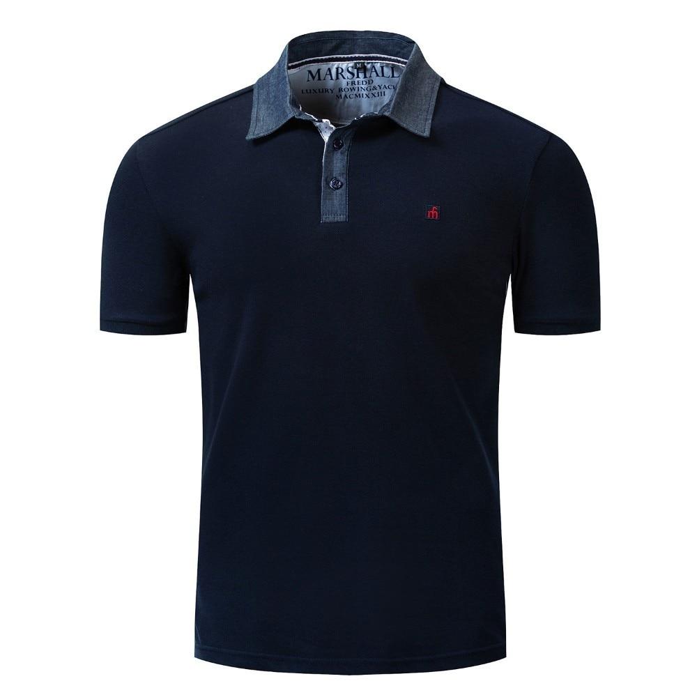 Summer Men   Polo   Shirt Casual Men's Regular-Fit Cotton Advantage Performance Solid   Polo   Shirt Homme De Marque Haute Qualite 037