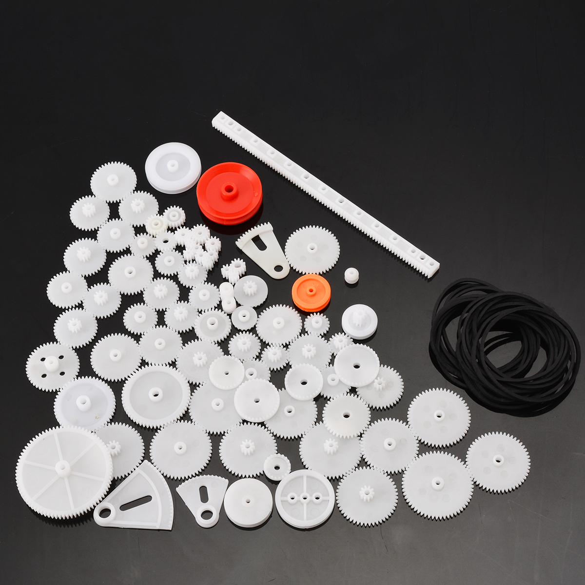 2019 New 81pcs New Plastic Gear Wheel Assorted Kit For Robot Toy Car Motor Shaft Model Crafts DIY