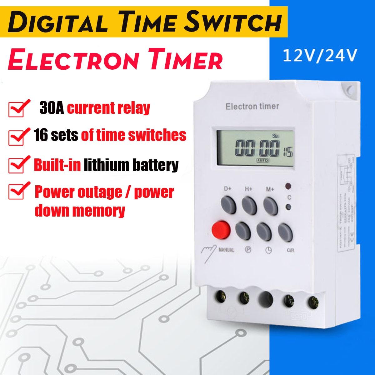 Timer Kg316t-ii Digitale Zeit Schalter Elektron Timer Mit Zyklus Timing Funktion Mikrocomputer Zeit Steuerung Schalter Englisch Version üPpiges Design Werkzeuge